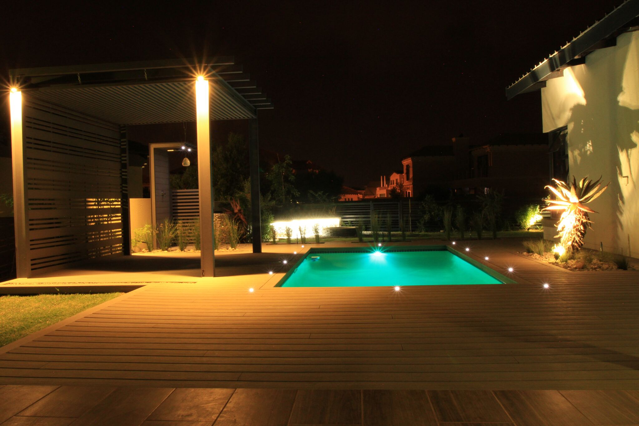 Installation of LED deck lights and garden lights   Timberstone